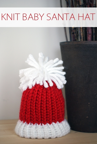 101 Days of Christmas: Knit Baby Santa Hat