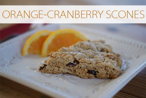 Orange-Cranberry Scones {101 Days of Christmas at lifeyourway.net}