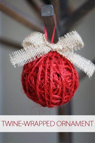 Twine-Wrapped Ornament {101 Days of Christmas at lifeyourway.net}