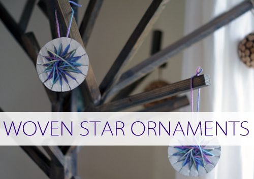 How to Make Woven Star Ornaments {101 Days of Christmas at lifeyourway.net}