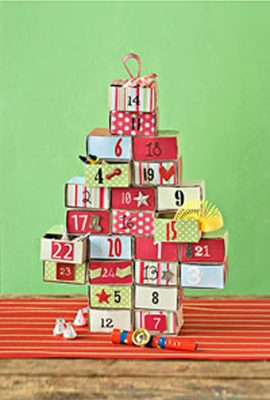 Matchbox Advent Calendar {DIY Advent Calendars at lifeyourway.net}