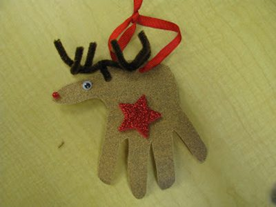 """Handsome"" Reindeer {DIY Ornaments for Kids Roundup at lifeyourway.net}"