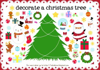 Decorate the Christmas Tree {Printables for Kids Roundup at lifeyourway.net}