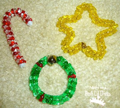 Easy Bead Ornaments {DIY Ornaments for Kids Roundup at lifeyourway.net}