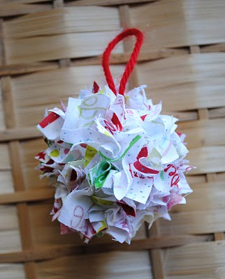 Fabric Scrap Ornament {DIY Ornaments for Kids Roundup at lifeyourway.net}