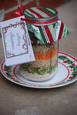 Layered Patchwork Soup {Gifts in a Jar Roundup at lifeyourway.net}