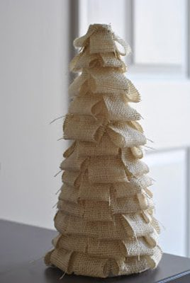 Mini Tree {DIY Burlap Decor Roundup at lifeyourway.net}