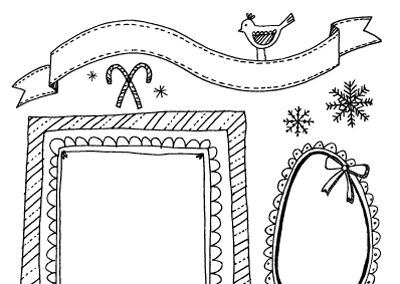 Christmas Coloring Page {Printables for Kids Roundup at lifeyourway.net}