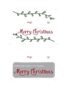 101 Days of Christmas: Printable Treat Bag Tags
