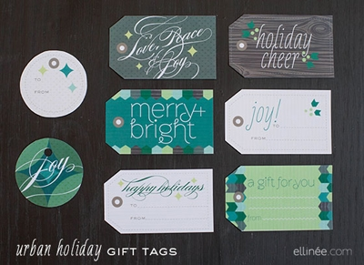 {Printable Christmas Tags Roundup at lifeyourway.net}