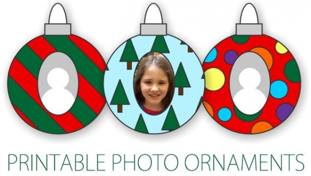 101 Days of Christmas: Printable Photo Ornaments