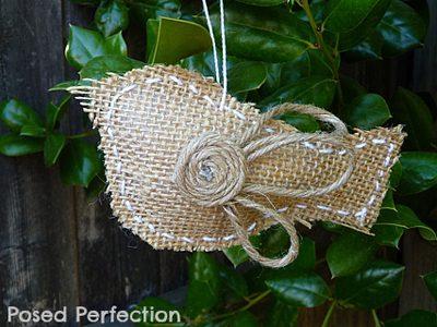 Bird Ornaments {DIY Burlap Decor Roundup At Lifeyourway.net}