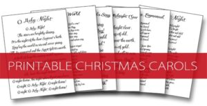 101 Days of Christmas: Printable Christmas Carols