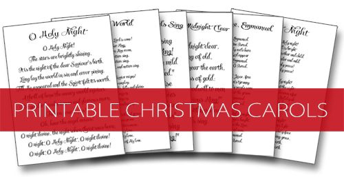Printable Christmas Carols {101 Days of Christmas at lifeyourway.net}