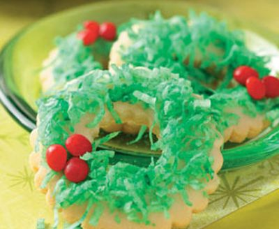 Wreath Cookies {Holiday Cookie Roundup at lifeyourway.net}