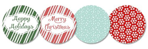 Printable Jar Lid Inserts {101 Days of Christmas at lifeyourway.net}