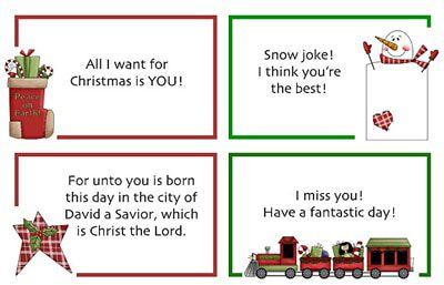 Christmas Lunch Notes {Printables for Kids Roundup at lifeyourway.net}