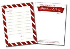 101 Days of Christmas: Printable Santa Letter Templates