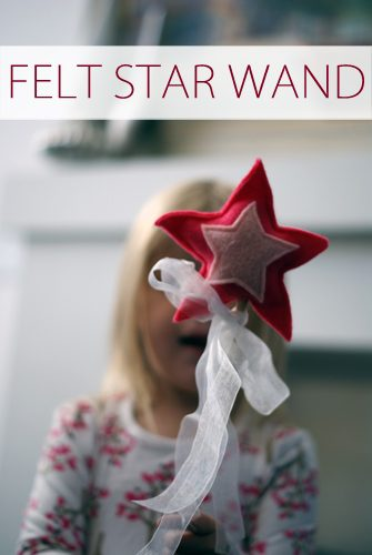 Felt Star Wand {101 Days of Christmas at lifeyourway.net}