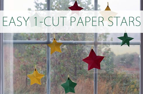 Easy 1-Cut Paper Stars {101 Days of Christmas at lifeyourway.net}