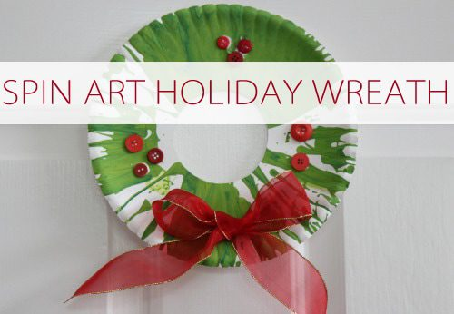 Spin Art Holiday Wreath {101 Days of Christmas at lifeyourway.net}