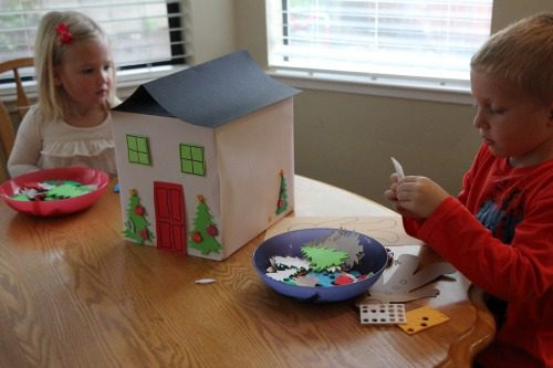 101 Days of Christmas: Create a Cardboard Box Gingerbread House at lifeyourway.net