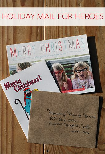 Holiday Mail for Heroes {101 Days of Christmas at lifeyourway.net}