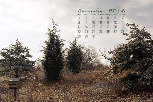 December 2013 Desktop Calendar at lifeyourway.net