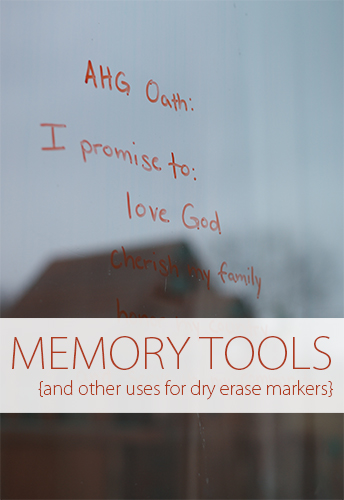 Memory Tools {And Other Uses for Dry Erase Markers}