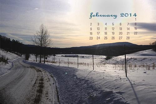 February 2014 Desktop Calendar at lifeyourway.net
