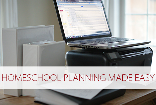 Homeschool Planning Made Easy at lifeyourway.net