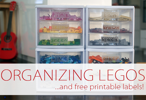 Organizing Legos {And Free Printable Labels!}