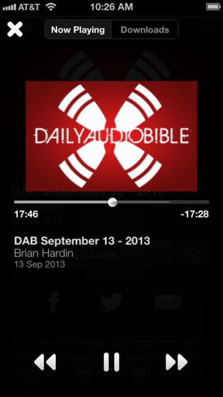 Daily Audio Bible {iOS App of the Week}