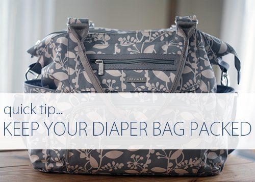 Quick Tip: Repack the Diaper Bag Right Away