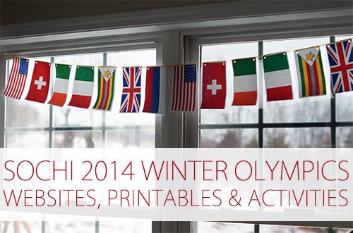 Sochi 2014 Winter Olympics Websites, Printables & Activities