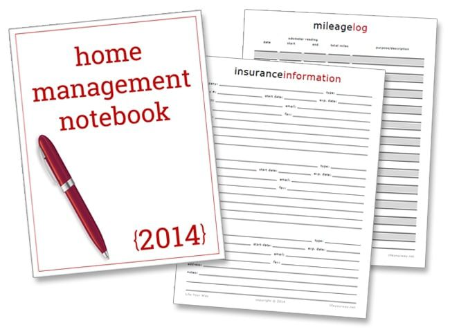 New Home Management Notebook Printables!