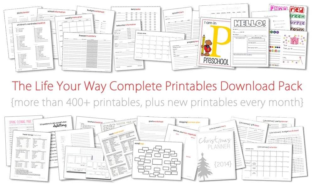The Life Your Way Complete Printables Download Pack