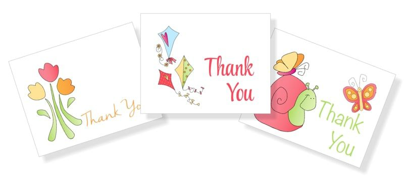 Spring Thank You Cards