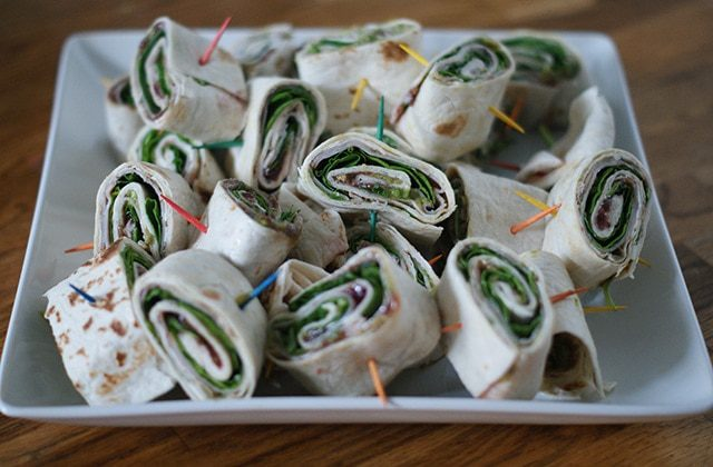 Raspberry Turkey Spinach Wraps