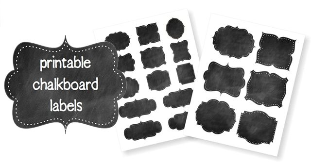 Free Printable Chalkboard Labels | Life Your Way