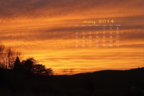 May 2014 Desktop Calendar at lifeyourway.net