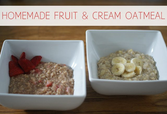"Easy Homemade Fruit & ""Cream"" Oatmeal"