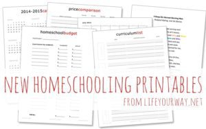 Plan the Upcoming Homeschool Year with These FREE Printables!
