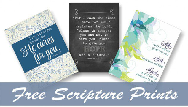 Free Scripture Prints at lifeyourway.net