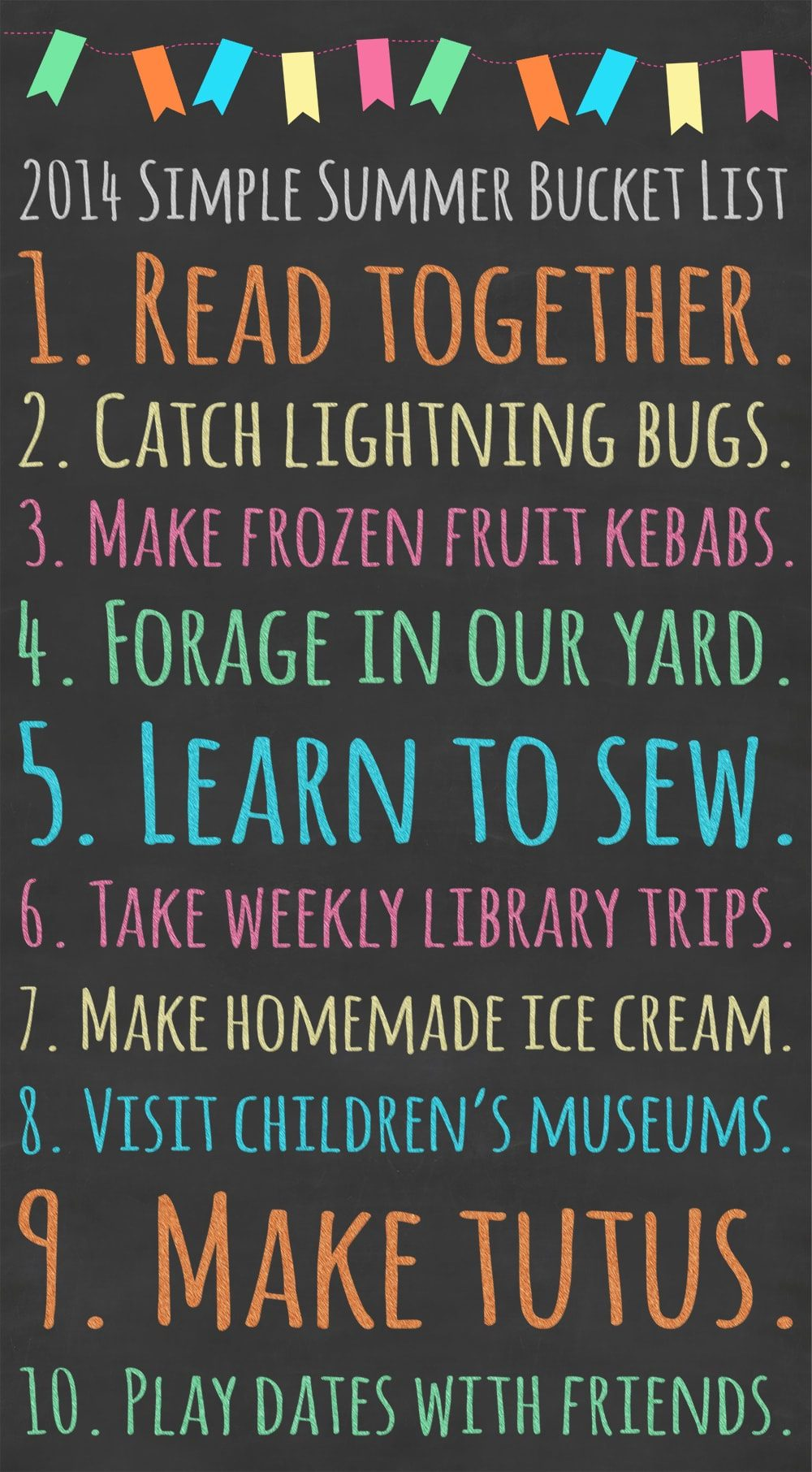 2014 Simple Summer Bucket List