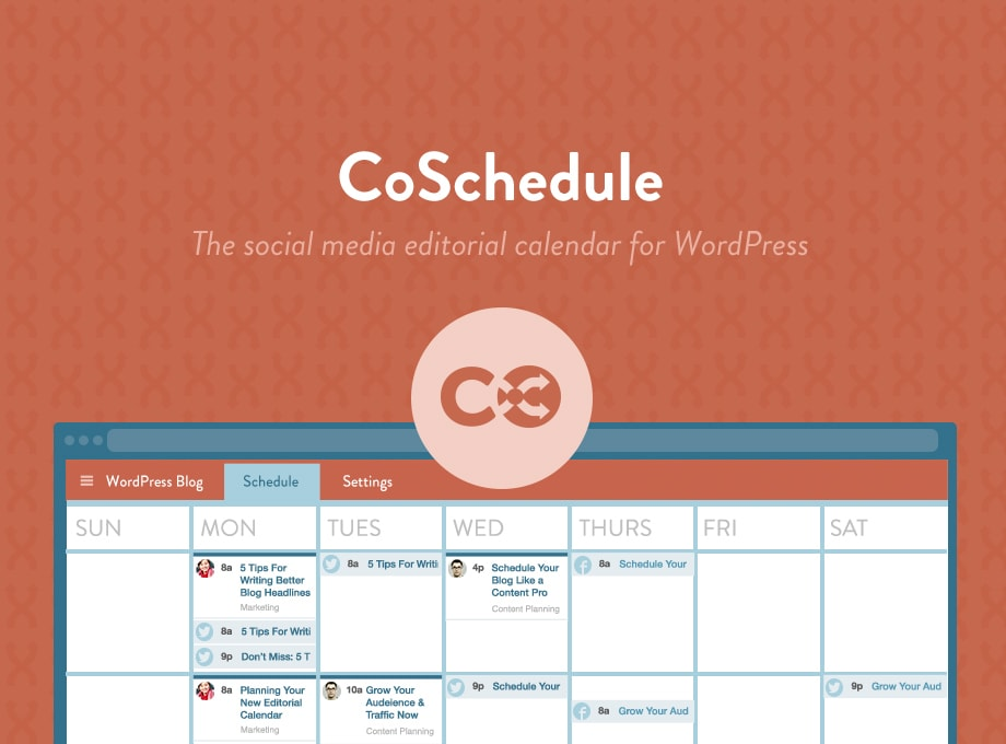 CoSchedule WordPress Editorial and Social Media Calendar