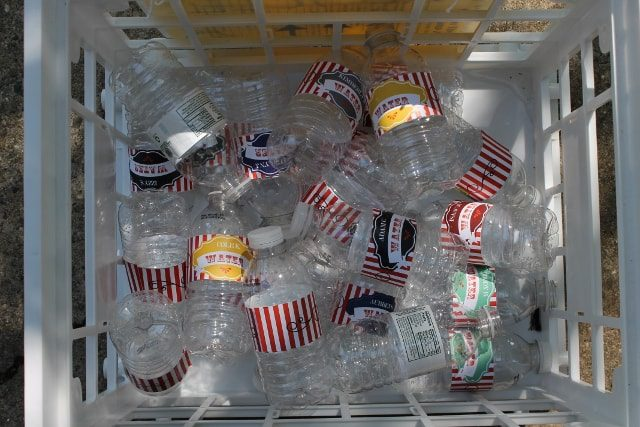 Recycling Water Bottles from a Party