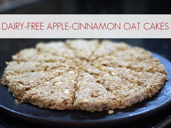 Dairy-Free Apple-Cinnamon Oat Cakes