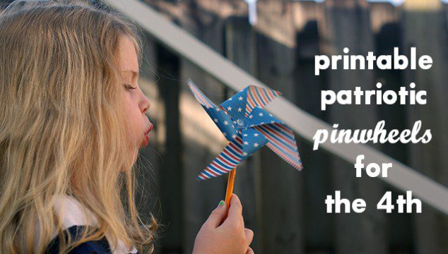 Printable Patriotic Pinwheels for the 4th of July