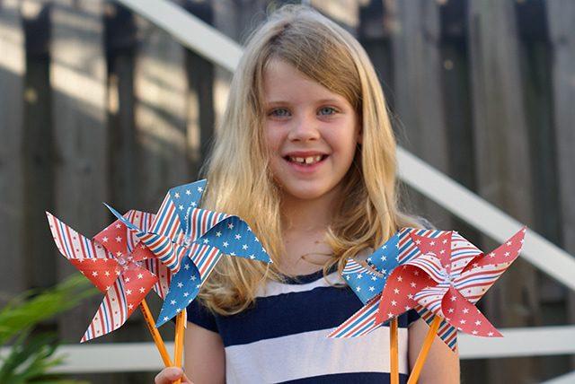 Printable Patriotic Pinwheels for the 4th